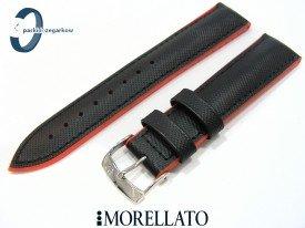 Pasek Morellato BOXING wodoodporny czarno-pomarańczowy 20 mm