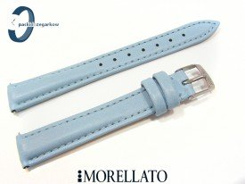 Pasek Morellato TREND turkusowy niebieski skórzany