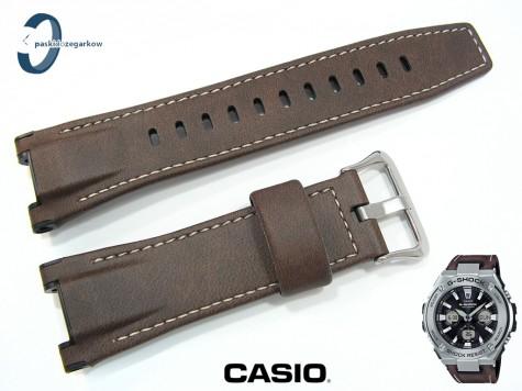 Pasek Casio GST-S130, GST-W130 skórzany brązowy