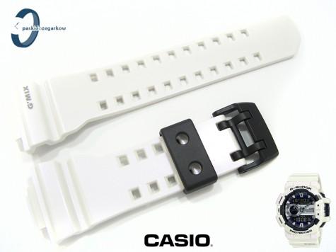 Pasek Casio GBA-40007C, GBA-400 biały połysk