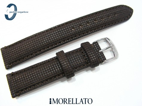 Pasek MORELLATO Natural Wood Marinetti ciemny brąz 18 mm