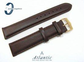 Pasek Atlantic 20 mm skórzany brązowy gładki złota sprzączka