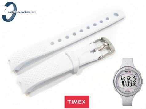 Pasek Timex T5K601 gumowy biały