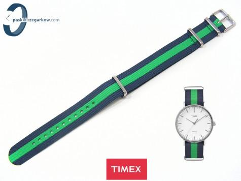 Pasek Timex Weekender TW2P90800 20 mm niebieski