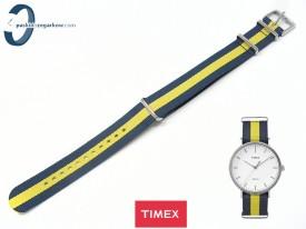 Pasek Timex Weekender TW2P90800 20 mm zielono-granatowy