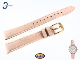 Pasek do zegarka Fossil Jacqueline ES4303 skórzany w kolorze pudrowy róż 14 mm