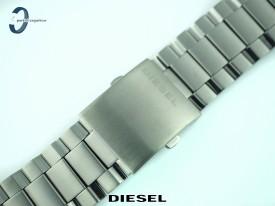Bransoleta Diesel 26 mm stalowa w kolorze szarym DZ4329