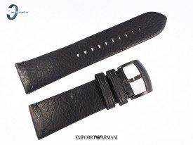 Pasek Emporio Armani AR2461 skórzany czarny 24 mm