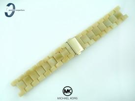 Bransoleta do zegarka Michael Kors MK5039 tworzywo sztuczne beżowa
