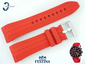 Pasek FESTINA F20376 silikonowy czerwony