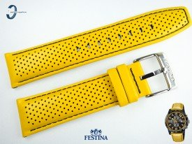 Pasek Festina F20339 skórzany żółty 23 mm