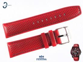 Pasek Festina F20339 skórzany czerwony 23 mm