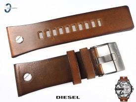 Pasek Diesel DZ7394 skórzany brązowy