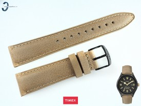 Pasek Timex TW2P74900 skórzany beżowy 20 mm