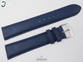 Pasek Atlantic 20 mm niebieski skórzany gładki