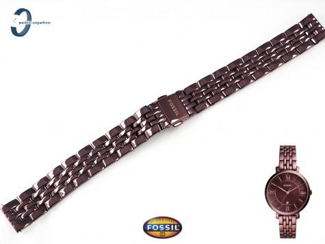 Bansoleta Fossil Jacqueline ES4100 w kolorze brązowym 14 mm