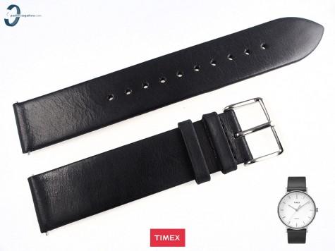 Pasek Timex TW2R26300 skórzany czarny 20 mm