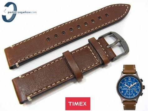 Pasek Timex TW4B09000 skórzany brązowy 20 mm