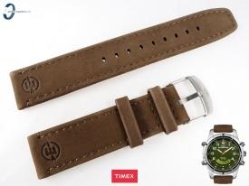 Pasek Timex T49829 skórzany brązowy 20 mm