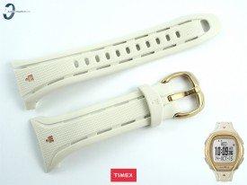 Pasek Timex TW5M05800 gumowy beżowy