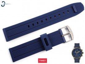 Pasek Timex TW2R60300 gumowy niebieski 20 mm