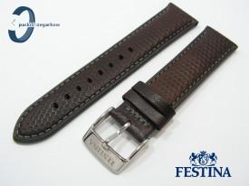 Pasek Festina F20265 skórzany 24 mm brązowy