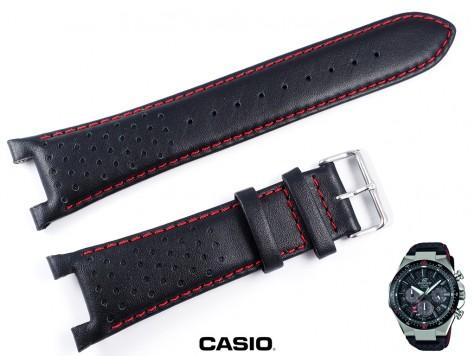 Pasek Casio Edifice EFS-S520CBL czarny skórzany