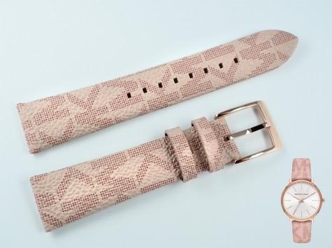 Pasek do zegarka Michael Kors MK2859 skórzany wzór 18 mm