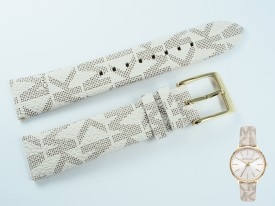 Pasek do zegarka Michael Kors MK2858 skórzany wzór 18 mm