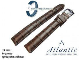 Pasek Atlantic 14mm - Brązowy - Sprzączka stalowa