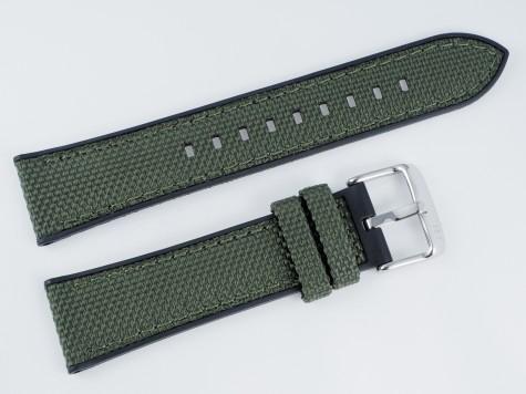 Pasek MORELLATO NET materiałowo-gumowy czarno-zielony 20 mm