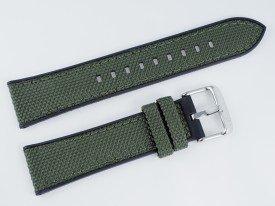 Pasek MORELLATO NET materiałowo-gumowy czarno-zielony 22 mm