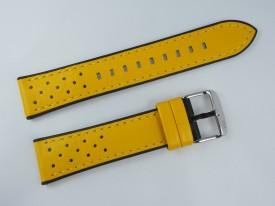 Pasek MORELLATO FLYBOARD skórzano-gumowy żółty 22 mm