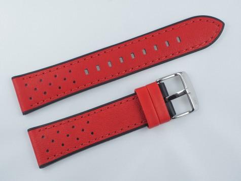Pasek MORELLATO FLYBOARD skórzano-gumowy czerwony 22 mm