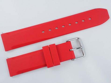 Pasek MORELLATO LUGANO gumowy czerwony 18 mm