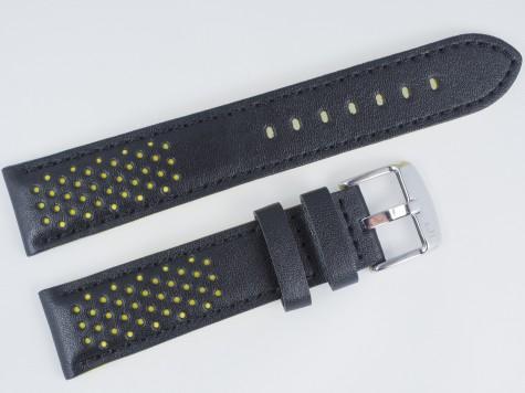 Pasek MORELLATO RALLY skórzany czarno-żółty 20 mm