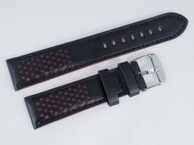 Pasek MORELLATO RALLY skórzany czarno-czerwony 20 mm