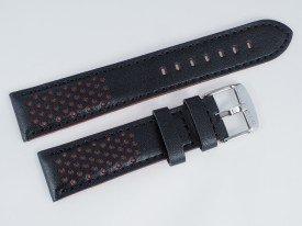 Pasek MORELLATO RALLY skórzany czarno-czerwony 22 mm