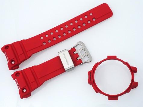 Komplet pasek i bezel Casio GWN-1000RD-4A, GWN-1000 czerwony