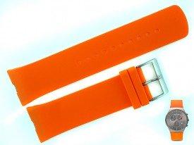 Pasek Skagen SKW6074 silikonowy pomarańczowy