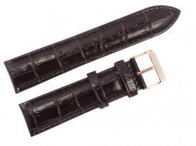 Pasek do zegarka Lorus 22 mm brązowy skórzany