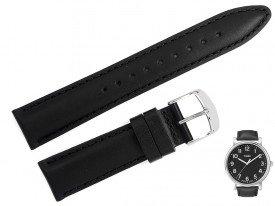 Pasek do zegarka TIMEX T2N339 czarny skóra 20 mm