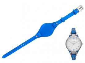Pasek do zegarka Fossil Georgia ES3297 niebieski