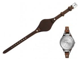 Pasek do zegarka Fossil Georgia ES3619 brązowy