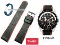 Pasek Timex T2M428 22mm skórzano-gumowy czarny