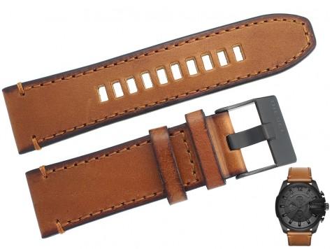 Pasek DIESEL DZ4463 brązowy skórzany 26 mm