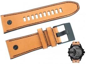 Pasek DIESEL DZ7406 brązowy skórzany 28 mm