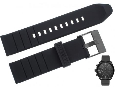 Pasek DIESEL DZ4507 gumowy czarny 22 mm
