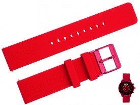 Pasek do zegarka Michael Kors MKT5073 czerwony 20 mm