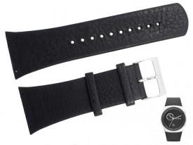 Pasek do zegarka Skagen SKW6070 czarny skórzany